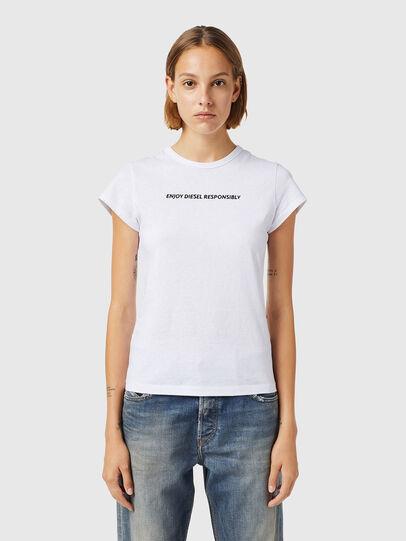 Diesel - T-SLICUP-B3, White - T-Shirts - Image 1