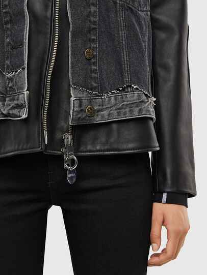 Diesel - L-KELLY, Black - Leather jackets - Image 5