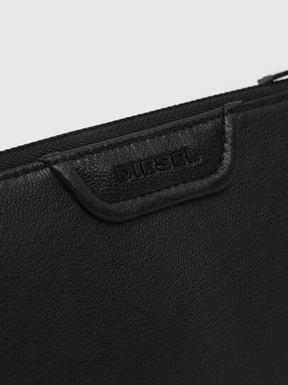 Diesel - L-24 ZIP, Black - Zip-Round Wallets - Image 3