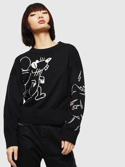 Diesel - CL-M-TESS, Black - Knitwear - Image 1