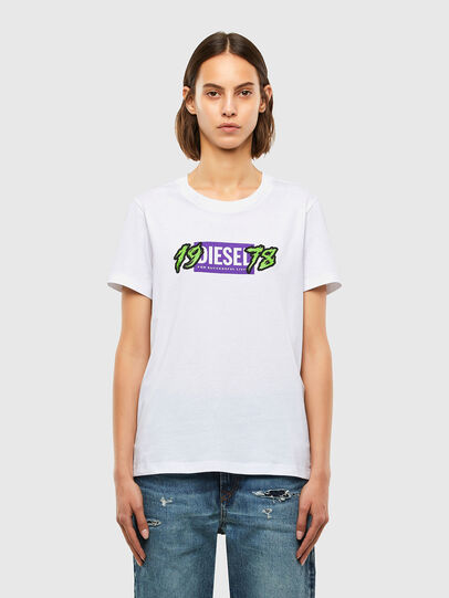 Diesel - T-SILY-K4, White - T-Shirts - Image 1