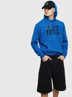 S-GIRK-HOOD, Blue - Sweaters