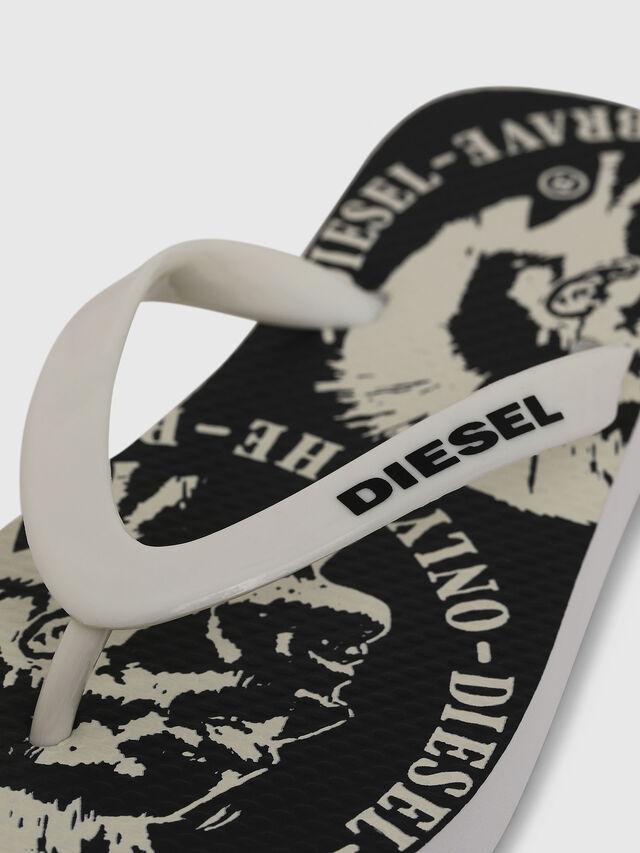 Diesel - FF 22 FLIPPER CH, White/Black - Footwear - Image 3