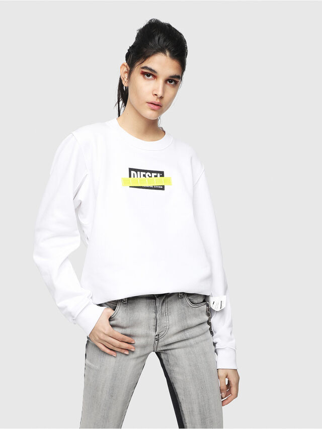 Diesel - F-LYANY-B, White - Sweaters - Image 1
