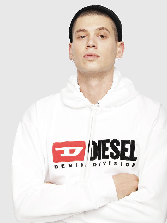 Diesel - S-DIVISION, White - Sweaters - Image 3