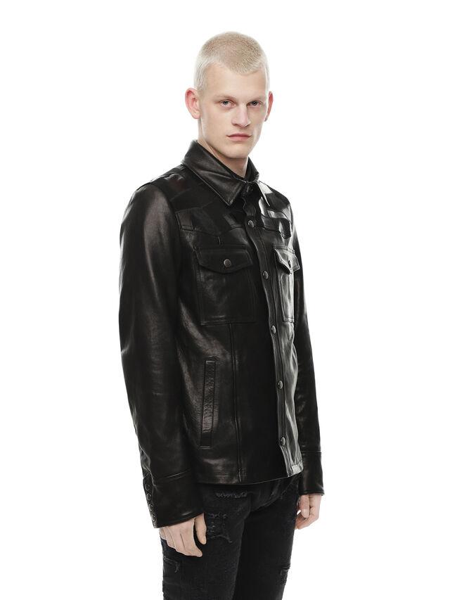 Diesel - LASTREET, Black - Leather jackets - Image 3