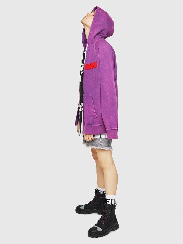 Diesel - S-GIM-HOOD-ZIP, Violet - Sweaters - Image 5