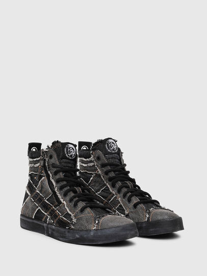 Diesel - D-VELOWS MID LACE, Grey Jeans - Sneakers - Image 2
