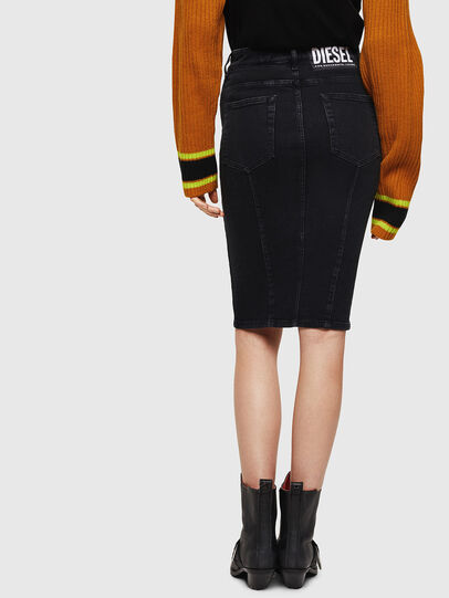 Diesel - DE-PENCIL-ZIP, Opaque Black - Skirts - Image 2