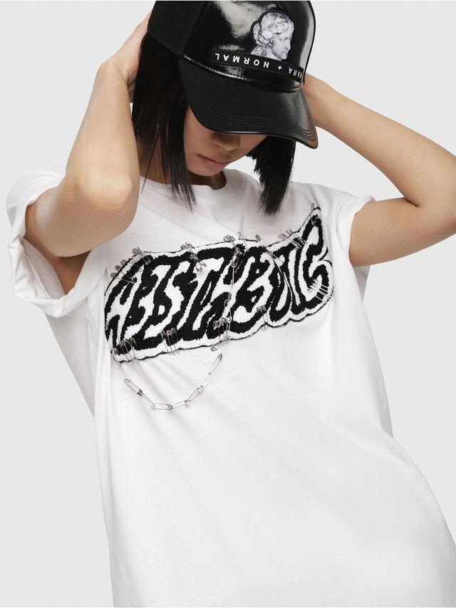Diesel - T-DARIA-G, White - T-Shirts - Image 3