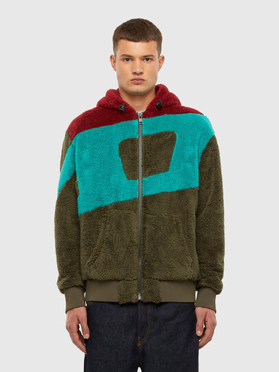 Diesel - S-ALDY, Olive Green - Sweaters - Image 1