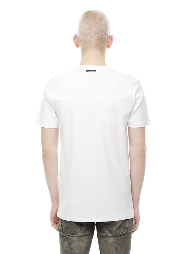 Diesel - TY-PEZZABOY1, White - T-Shirts - Image 2
