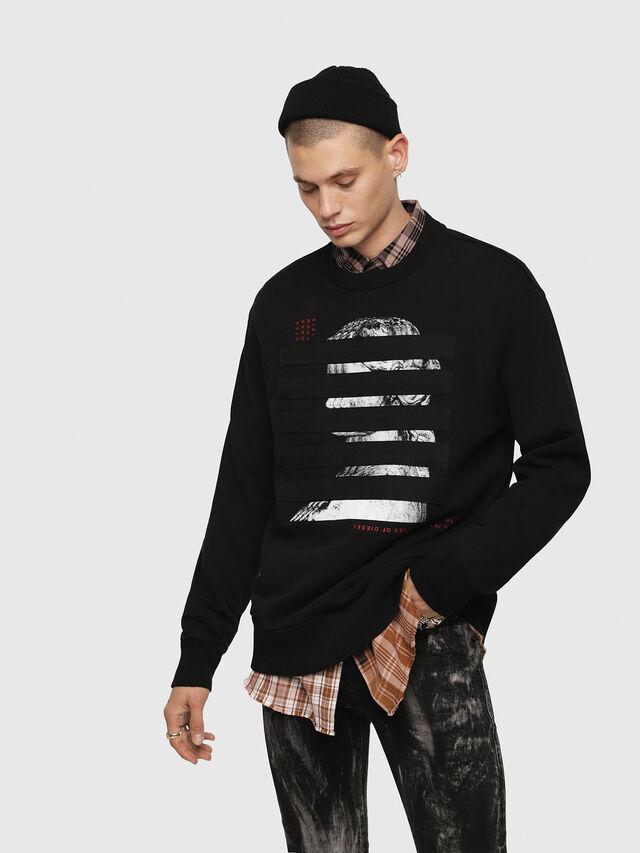 Diesel - S-BAY-YB, Black - Sweaters - Image 1