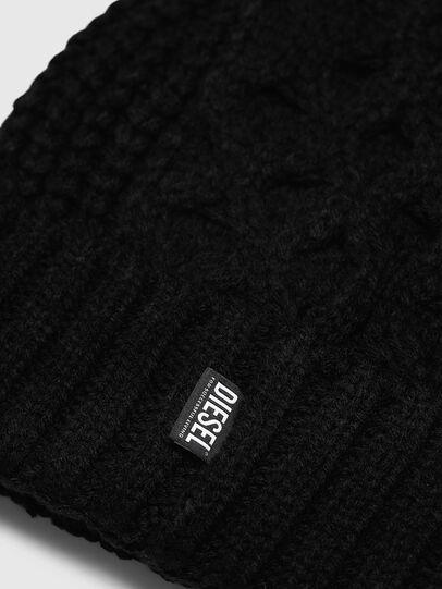 Diesel - K-KONEX, Black - Knit caps - Image 3
