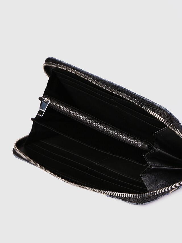 Diesel 24 ZIP, Blue Jeans - Zip-Round Wallets - Image 4