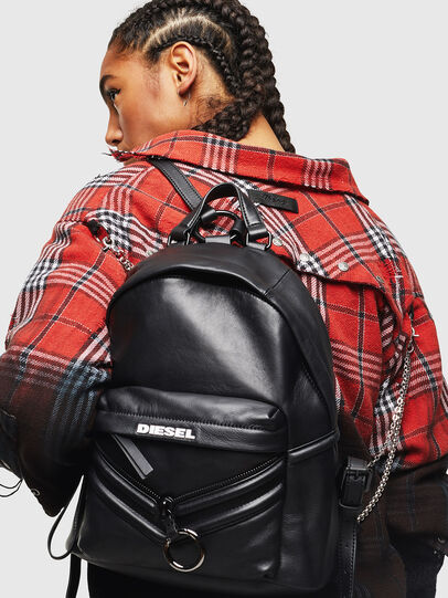 Diesel - LE-ZIPPER BACKPACK, Black - Backpacks - Image 7