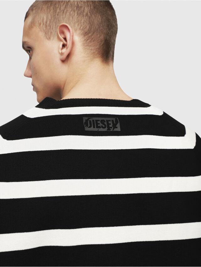 Diesel - K-ESTEC, Black/White - Knitwear - Image 4