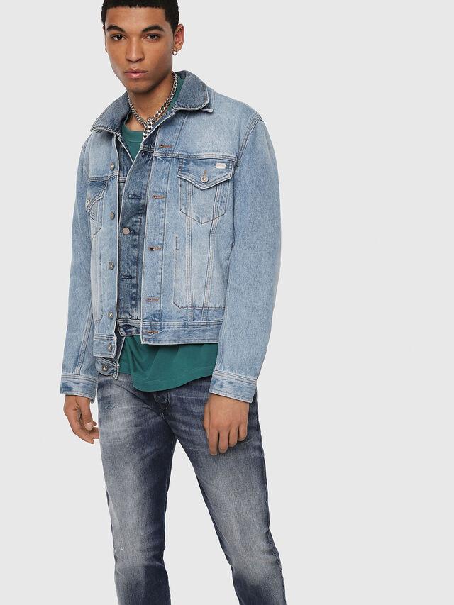 Diesel - D-Bazer 084DD, Dark Blue - Jeans - Image 3