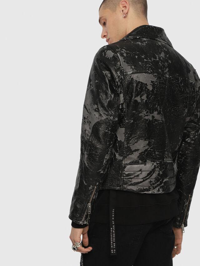 Diesel - L-KRAMPIS-A, Black Leather - Leather jackets - Image 2