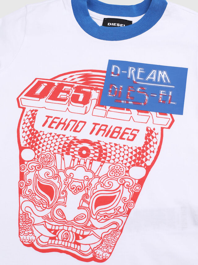 Diesel - TENNUB-R, White/Red/Blu - T-shirts and Tops - Image 3