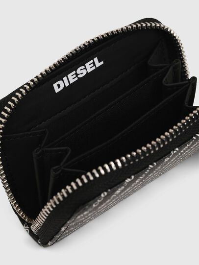 Diesel - JAPAROUND, Black/White - Zip-Round Wallets - Image 3