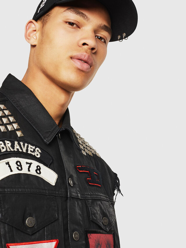 Diesel - PS-D-VINNY, Black - Denim Jackets - Image 5