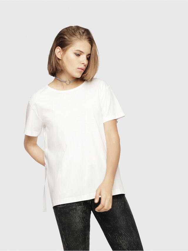Diesel - T-FLEURIS-A, White - T-Shirts - Image 1