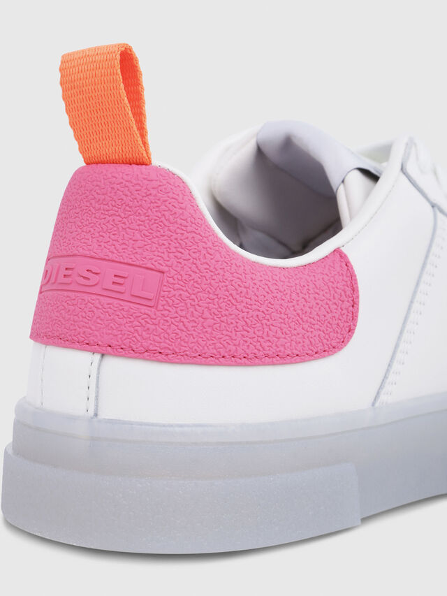 Diesel - S-CLEVER LOW W, White/Pink - Sneakers - Image 5