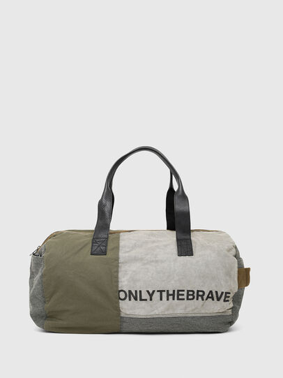 Diesel - D-THISBAG TRAVEL BAG, Olive Green - Travel Bags - Image 2