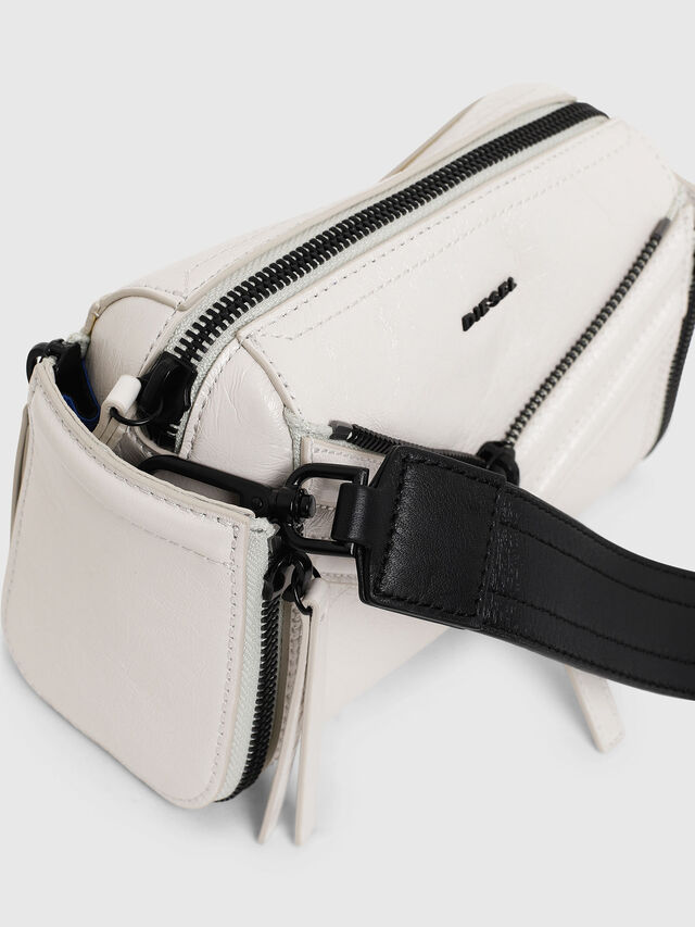 Diesel - LE-ZIPPER CROSSBODY, White - Crossbody Bags - Image 3
