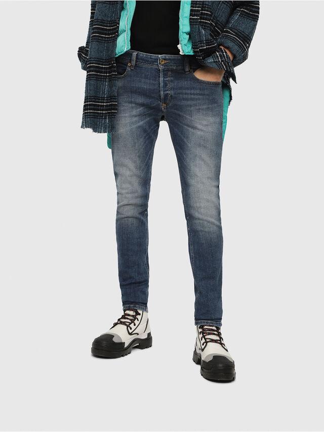 Diesel - Sleenker 082AB, Dark Blue - Jeans - Image 1