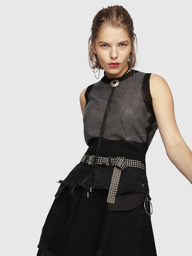 Diesel - M-SETT, Black - Knitwear - Image 1