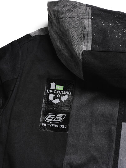 Diesel - D-55PARKA, Black - Winter Jackets - Image 6
