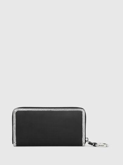 Diesel - GRANATO LC, Black/White - Zip-Round Wallets - Image 2