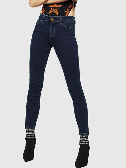 Diesel - Slandy Zip 083AM, Dark Blue - Jeans - Image 1