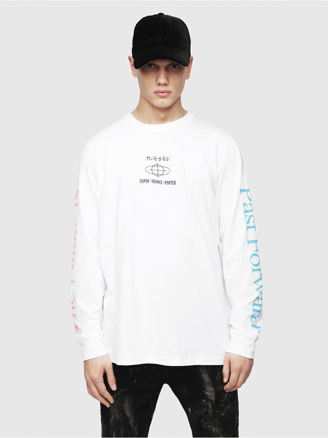 Diesel - T-JUST-LS-YB, White - T-Shirts - Image 1