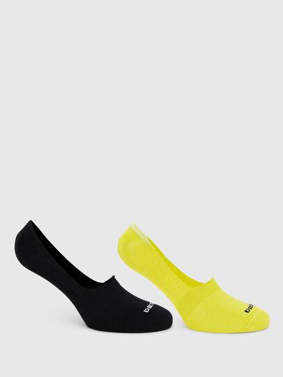 Diesel - SKM-NOSHOW-TWOPACK, Black/Yellow - Socks - Image 1