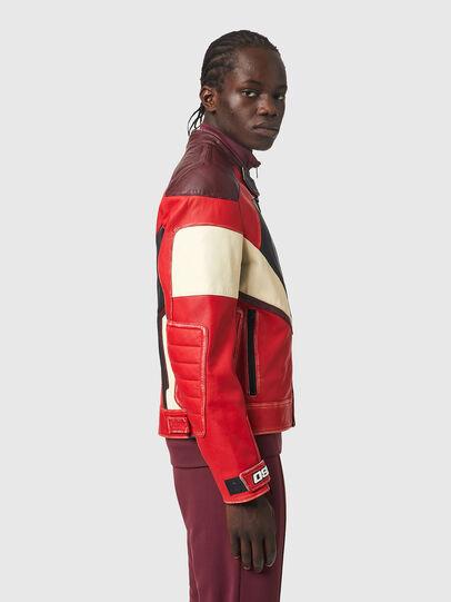 Diesel - L-TEAM, Red/Black - Leather jackets - Image 5