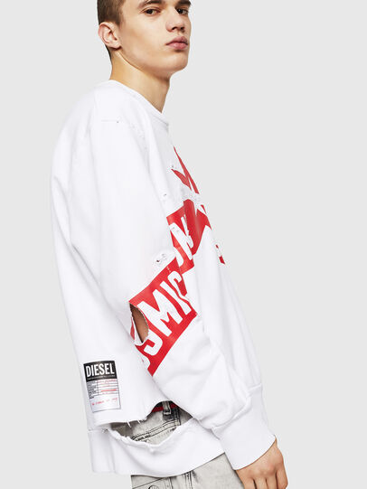 Diesel - S-BAY-HOLES, White/Red - Sweaters - Image 4