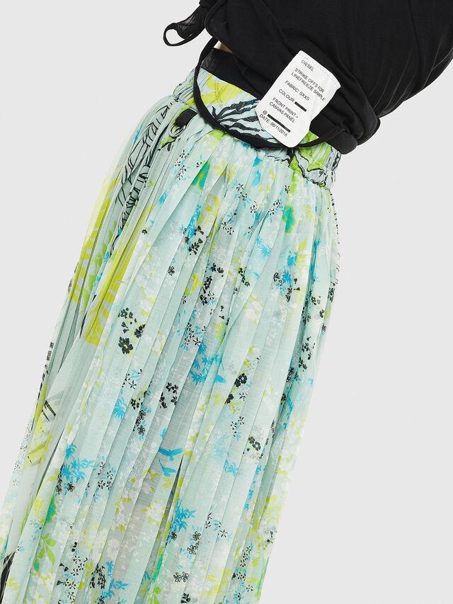 Diesel - O-PLIZ, Water Green - Skirts - Image 4