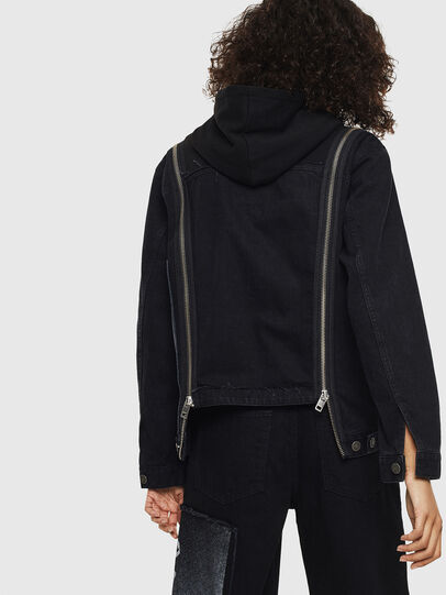 Diesel - DE-VYSE-SX, Black - Denim Jackets - Image 2