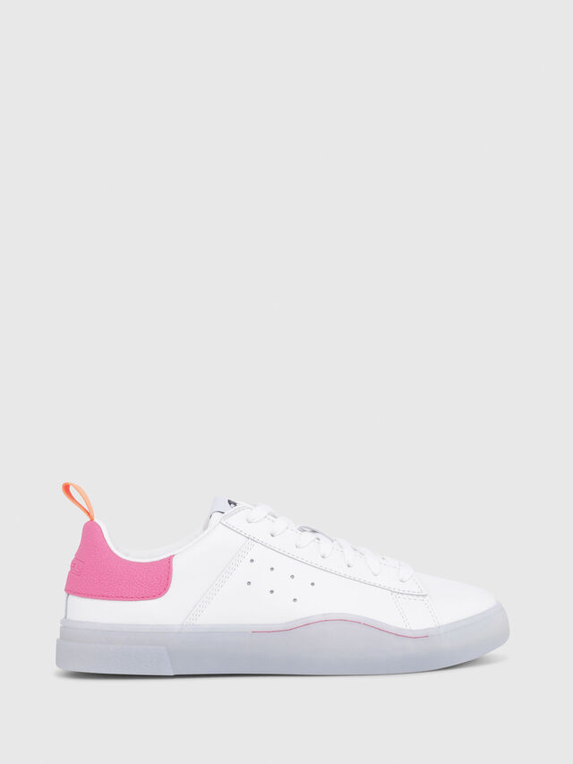 Diesel - S-CLEVER LOW W, White/Pink - Sneakers - Image 1