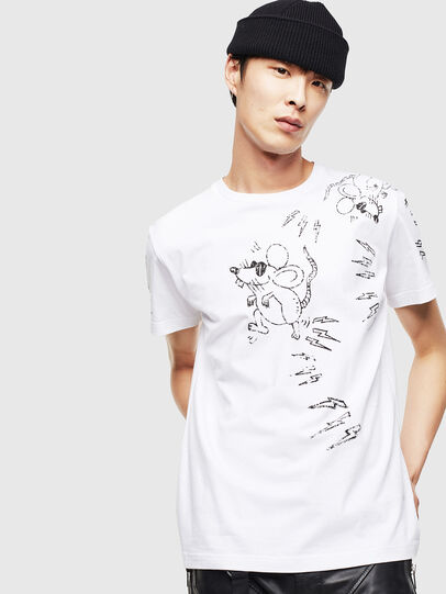 Diesel - CL-T-DIEGO-3, White - T-Shirts - Image 1