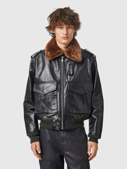 Diesel - L-WELTIK, Black - Leather jackets - Image 1