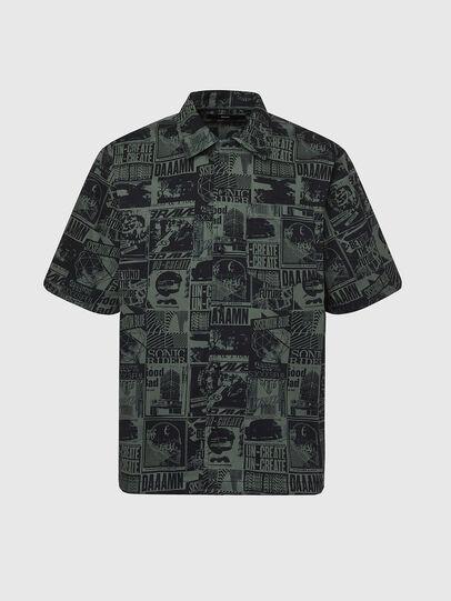 Diesel - S-ROHAD-B, Black/Green - Shirts - Image 1