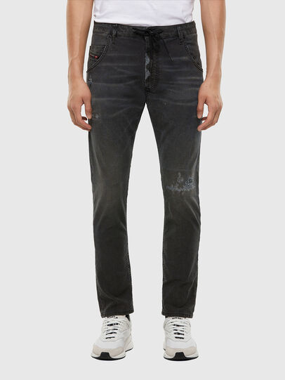 Diesel - Krooley JoggJeans 009LB, Black/Dark grey - Jeans - Image 1