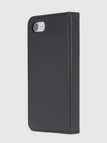 Diesel - BLACK DENIM/STUD/ZIPPER IPHONE 8/7 FOLIO, Black - Flip covers - Image 3