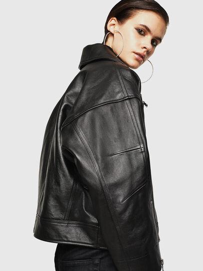 Diesel - LJESIV, Black - Leather jackets - Image 5