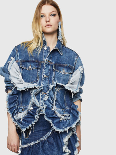 Diesel - DE-ABBY, Medium blue - Denim Jackets - Image 6