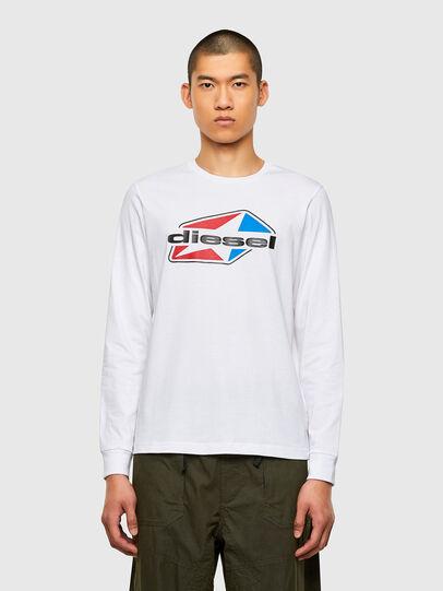 Diesel - T-DIEGOS-LS-K41, White - T-Shirts - Image 1